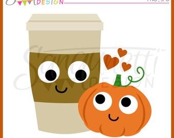 Pumpkin Spice clipart, coffee clipart, fall clipart, latte clipart, pumpkin clipart, Instant download