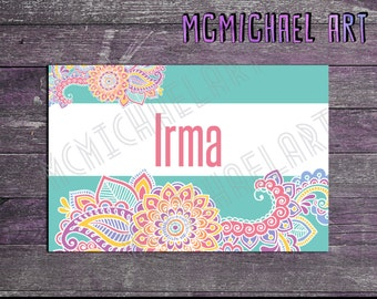 Paisley Style Display Cards - 4x6 inches