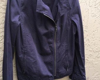Navy Blue Cotton Jacket