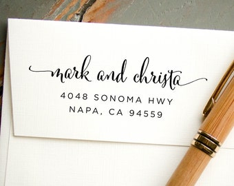 Self-Inking Stamp, Personalized Stamp, Return Address Stamp, Custom Rubber Stamp, Custom Address Stamp, Custom Stamp, Hand Calligraphy Look