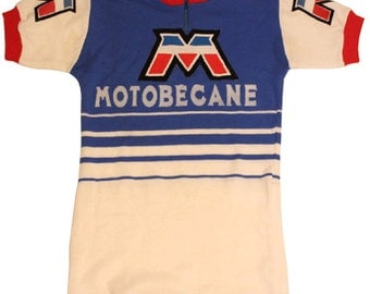 70's vintage MOTOBECANE  cycle jersey made in Belgium