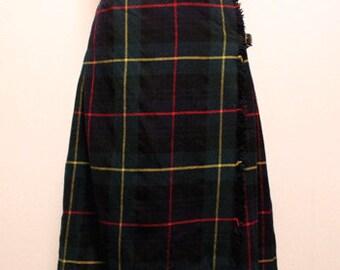 70s vintage James Dalgliesh kilt skirt made in scotland