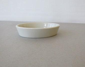 Vintage Hall China Au Gratin Dish - 570 3/4 model | 8 oz capacity, all white cookware, individual au gratin, casserole | Made in USA
