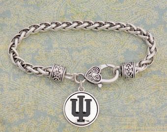 Indiana Hoosiers Medallion Clasp Bracelet