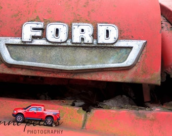 Red Ford Truck Original Photography