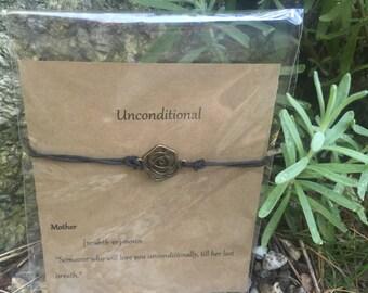 Unconditional wish bracelet