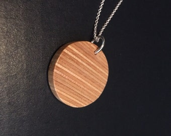 Upcycled Recycled Repurposed - Wood Jewelry - Recycled Necklace - Skateboard Necklace