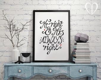 Printable Wedding Art, Couple Print, Love Print, Funny print, Wedding Print, Wall Art, Humour Print, Funny Wedding Print, PDF, Digital