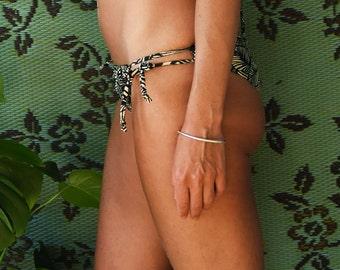 PASHA Low-Rise String-Tie Bikini Bottom