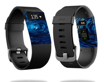 Skin Decal Wrap for Fitbit Blaze, Charge, Charge HR, Surge Watch cover sticker Blue Vortex