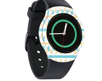 Skin Decal Wrap for Samsung Gear S2, S2 3G, Live, Neo S Smart Watch, Galaxy Gear Fit cover sticker Sandy Seahorse