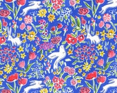 Garden-Quilting Fabric-Michael Miller-Sommer-Sarah Jane-Modern Fabric-Fabric by the yard-Sewing Fabric-Floral Fabric-Blue Fabric-Yardage