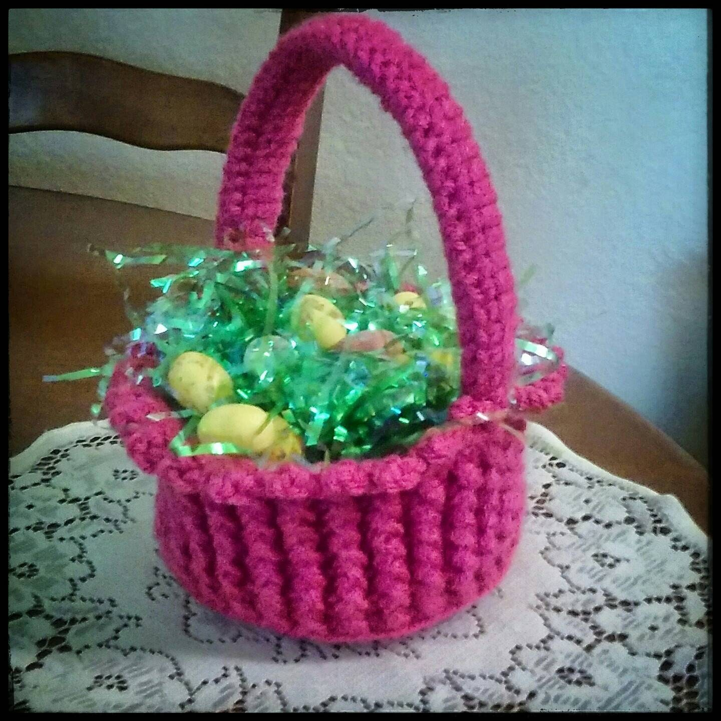 Easter patty anns crochet easter basket unisex boys or girls handmade and crocheted in the usa negle Choice Image