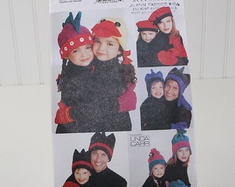 Vogue Hat and Mittens, Whimsical, Uncut Sewing Pattern, Vogue 9600, Size Child or Adult