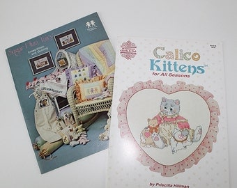 Calico Kittens and Sugar Plum Fairy Cross Stitch Patterns, PAT176