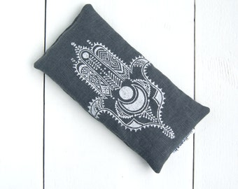 Organic linen lavender eye pillow, scented eye pillow, herbal eye pillow, eye pillow yoga, eye pillow lavender, meditation