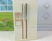 TOMY REFRIGERATOR, 1970's to 1980's, Hard Plastic, 1:18 Lundby Scale, Smaller Homes & Garden, Vintage Dollhouse Furniture