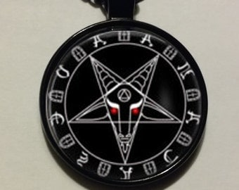 Satanic Pentagram Baphomet Necklace Pendant Witchcraft Devil SHIPS FAST from USA !!!