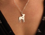 SALE - Boston Terrier Necklace -  Dog Jewelry - Dog Breed - Sterling Silver Charm - Personalized - Valentines Day Gift - Mothers Day Gift