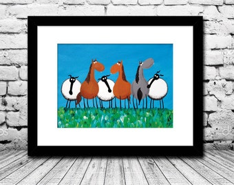 """""""Only Ewes And Horses"""" (Limited Edition Print)"""
