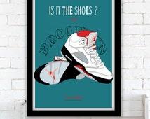 Mars Blackmon & the Nike commercials - Air Jordan V poster - 1990