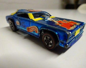 Vintage Redline Hot Wheel 1969 Blue Specktraflame Mongoose Funny Car  Made In United States - FREE SHIPPING