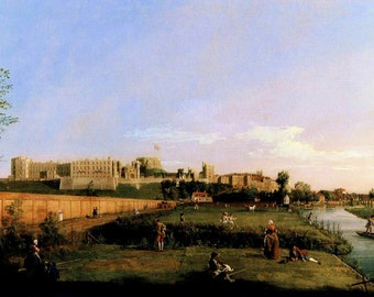 Canaletto: Windsor Castle. Fine Art Print/Poster. (003455)