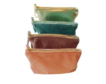 Suede clutch bag/pouch