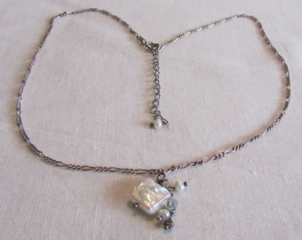 Sterling Silver and Freshwater Pearl Necklace