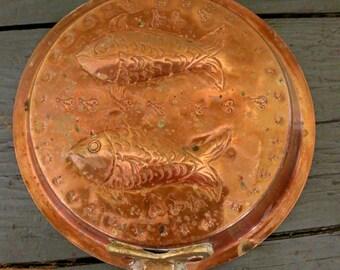 Antique Copper Fish Pan