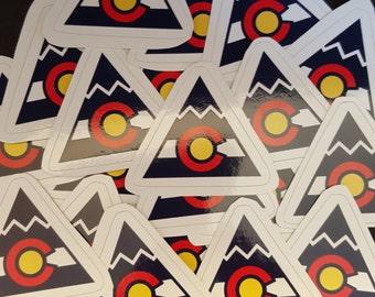 Colorado Flag Mountain B Sticker Vinyl