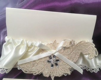 Embroidered Bridal Garter