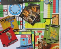 Small Pack of Game Pieces, For Collage, ATC ACEO making, Scrap Pack, Game Boards, Playing Chips, Dice,  Score Sheets, Playing Cards, Lot