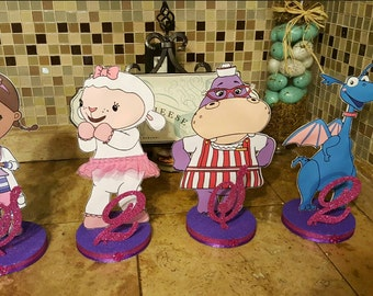 Doc McStuffins and Friends Glitter Centerpiece
