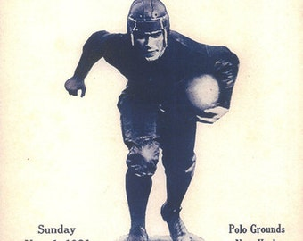 1931 New York Giants vs Portsmouth Spartans Poster - FREE Shipping