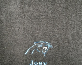 Panthers Football  Personalized Bath Towel  ANY COLOR