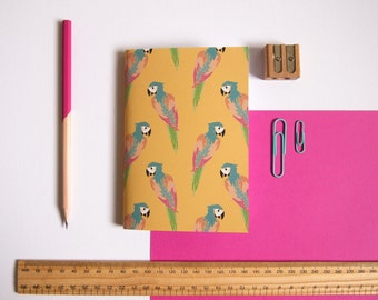 A6 Notebook / Parrot Notebook / Tropical Stationery / Pocket Notebook / Cute Stationery / Small Notebook / Gifts for Her