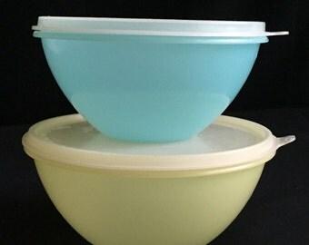 Vintage Wonderlier Tupperware Bowls, 1950's