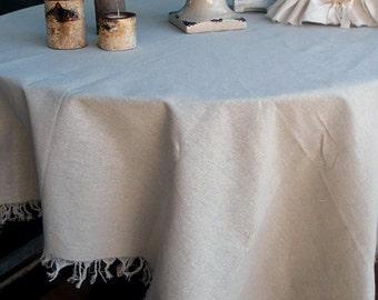 """54"""" x 54"""" Burlap / Cotton Linen Squares With Fringed Edges"""