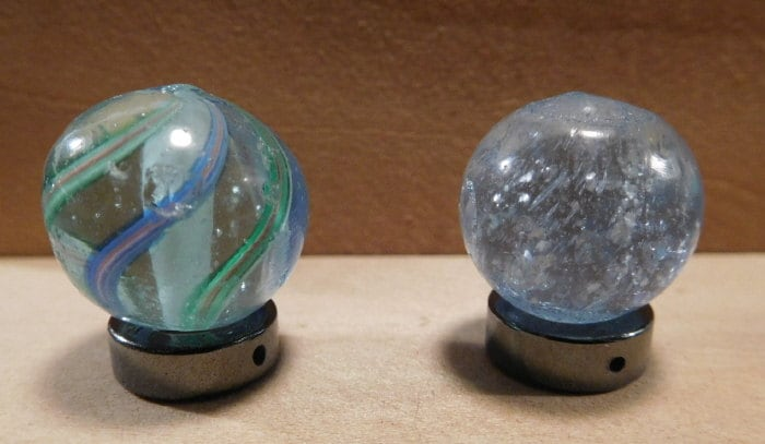 Solid White Toy Marbles : Th c german handmade toy marbles solid core by nbvsalvage