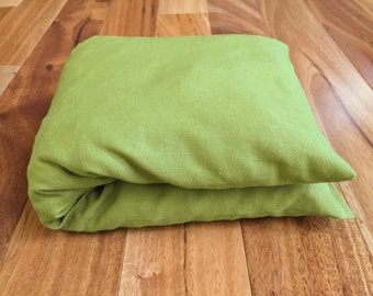 Olive Green Cherry Pit Heating Pad, Hot or Cold Therapy Pack, Microwaveable