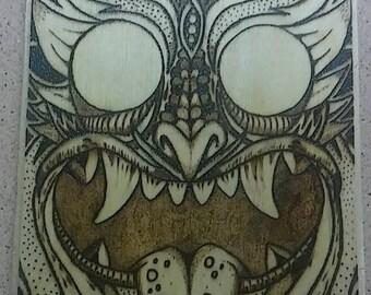 Japanese Demon Walnut Plaque