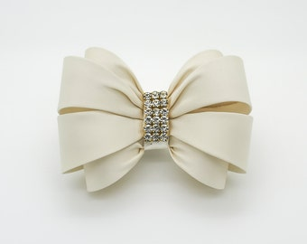 ivory bow hair clip girls bow hair clip bow hair clip wedding hair