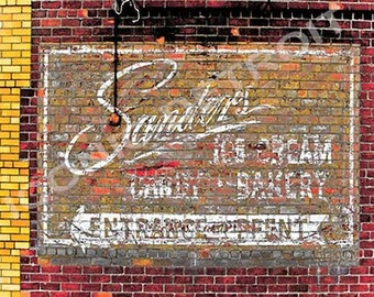 Detroit photography faygo mural iconic detroit print for Enjoy detroit mural