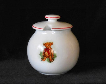 Porcelain Honey Pot with Teddy Bear decoration from the Smithsonian