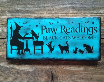 Paw Readings Sign (Teal)