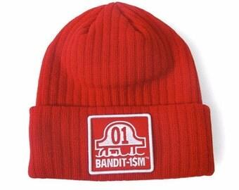 Bandit1sm red logo Beanie