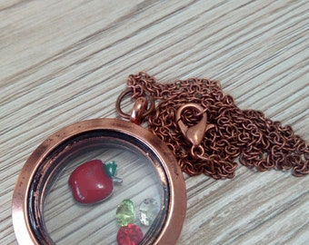 Floating Charm bronze necklace / pendant