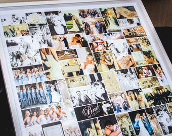 personalised wedding photo montage extra large multiple sizes