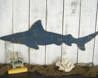 Mako Shark Decor Shark Wall Art Shark Wall Decor Shark Sign Ocean Decor Wooden Wall Art Nautical Wall Decor Kids Room Decor Coastal Decor